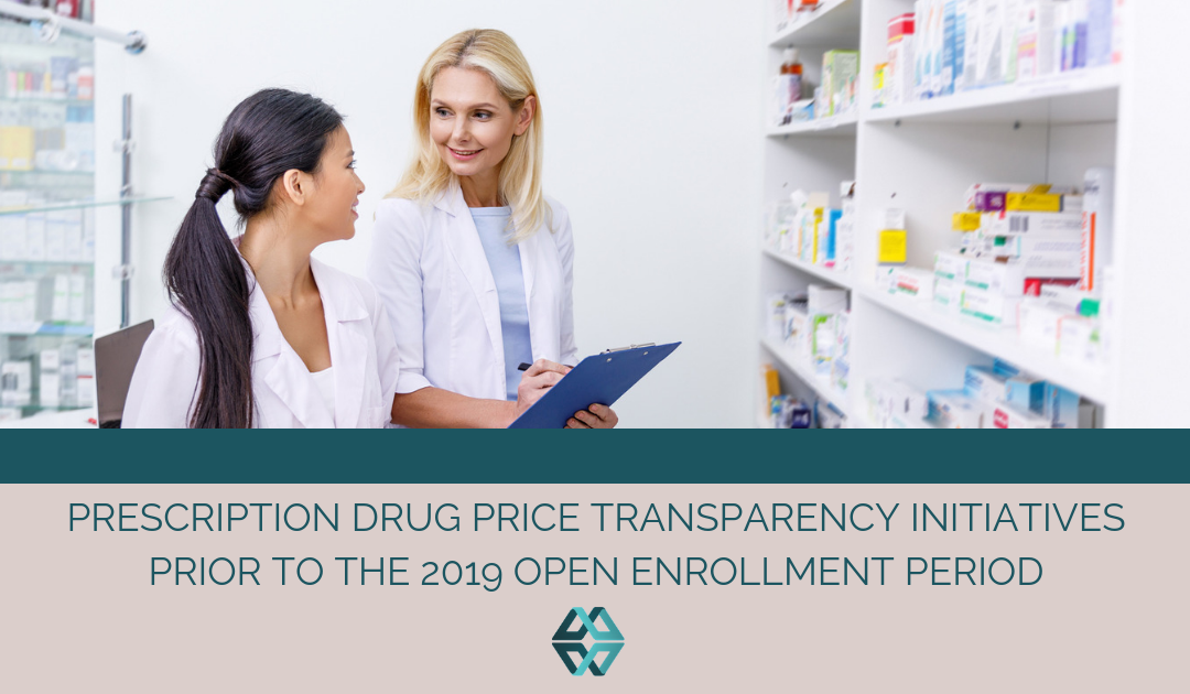 Prescription Drug Price Transparency Initiatives Prior to the 2019 Open Enrollment Period